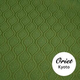 金襴 生地 布 はぎれ 京都発・有職 雲立涌 抹茶色(グリーン系)【和布 和風 和生地 和柄生地 和柄】