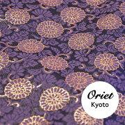打敷用金襴の菊唐草藤紫