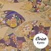 錦日本模式從京都議定書 》 和源氏物語米色織物和金色