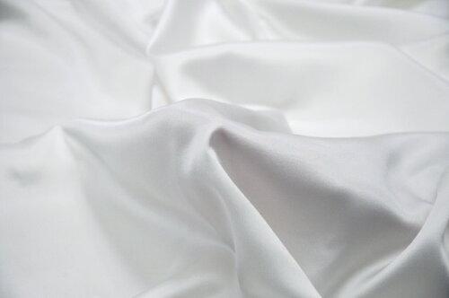シルクサテン生地はぎれハイグレードホワイト☆ブラウスやウェディングドレスにも!
