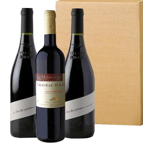 赤ワイン 3本セット フランス赤ワイン コート・デュ・ローヌ ビオワイン ラングドック・ルーション 750ml