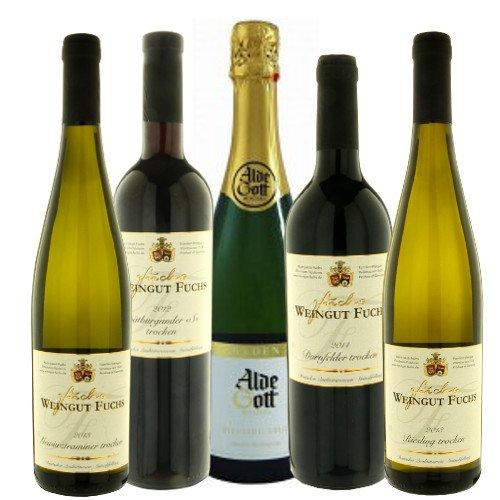 ドイツの赤、白、スパークリングワイン組合せ5本セット 定番のブドウの種類の飲み比べ