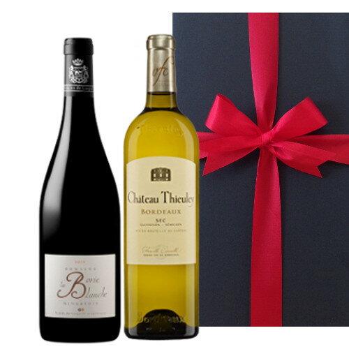 送料無料 あす楽 赤白 ワインセット お酒 プレゼント 赤ワイン 南フランス シラー 白ワイン ボルドー セミヨン お礼 内祝 750ml×2本