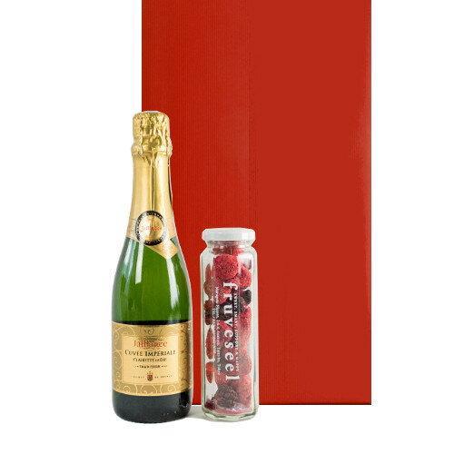 あす楽対応 誕生日プレゼント ミニギフト フランスのスパークリングワイン フリーズドライのミックスベリー ワインとスイーツ お菓子 フルーツ 砂糖不使用 無添加