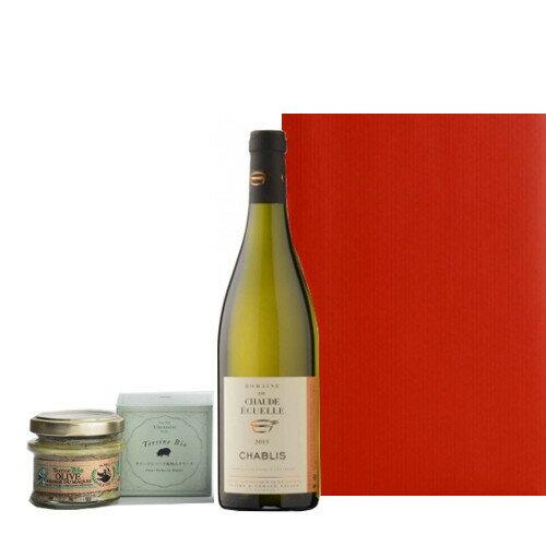 あす楽 父の日 お酒 ワイン おつまみ 食べ物 セット ブルゴーニュ 白ワイン シャブリ ハーフボトル 375ml コルシカ島 豚肉のテリーヌ ビオ100% おつまみ 詰め合わせ 男性 誕生日プレゼント