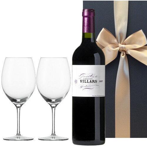 フランス ボルドー赤ワイン ポムロール地区 「シャトー・ヴィラール-フロンサック」2006年 ボルドーワイングラス付き