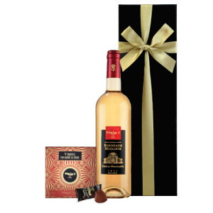 プレゼント スイーツ 送料無料 【ワインとスイーツのギフト】 白ワイン 甘口 375ml フランス ボルドー ハーフボトル 「マキシム・ド・パリ」 トリュフ チョコレート あす楽 スイーツ 甘いも