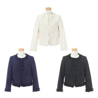 ☆ All no-collar Shin pull tweed jacket occasion Liala X PG three colors