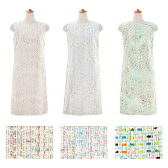 ★ 2/8 shipment plan! All tweed I line dress Liala X PG three colors