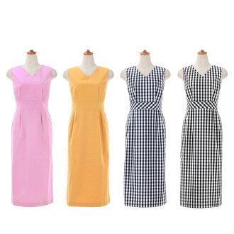 ★ All V neck narrow dress Liala X PG four colors