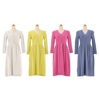 ★ All cardigan-like knit dress Liala X PG four colors