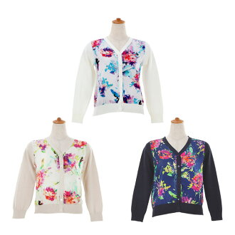 ★ All floral design print knit cardigan Liala X PG three colors