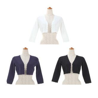★ All scallop shell & race knit bolero Prima Scherrer three colors