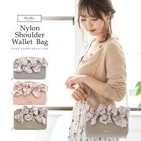 ★ Winter SALE ナイロン ショルダーウォレット バッグ le reve vaniller 全3色 【1】