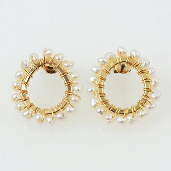 ★ ノーブル パール ピアス イヤリング Noble Pearl Pierce Earring (Liala) 全2種 【1】