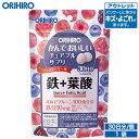 【アウトレット】 オリヒロ かんでおいしいチュアブルサプリ 鉄+葉酸 120粒 30日分 タブレット orihiro / 在庫処分 訳…