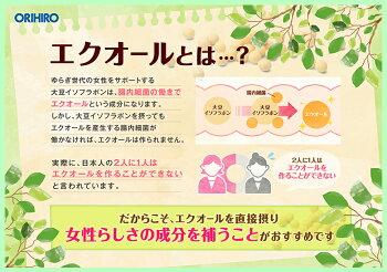 メール便送料無料オリヒロエクオール&発酵高麗人参粒30粒30日分orihiro