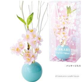 はなりくディフューザー パウダーピンク 桜の香り かわいい ディフューザー ギフト カメヤマ
