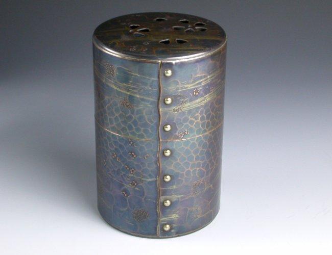 茶筒 風紋 六半斤 茶器【工芸ギフト】【引出物御祝記念品】