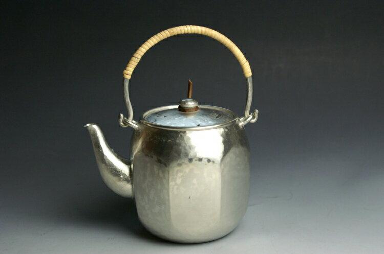手づくり銅器 急須錫被吊付八角形(茶こし) 茶器