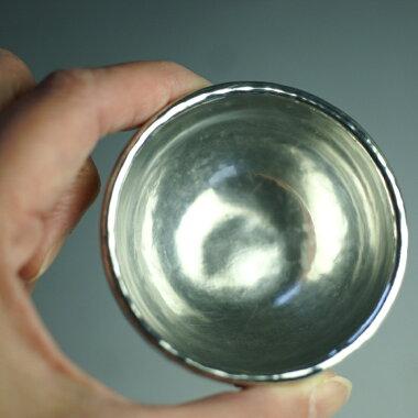 錫ぐい呑(ぐいのみ)丸形特大厚