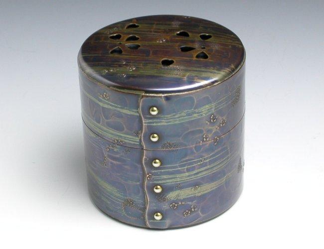 手作り銅器 茶筒 風紋 八半 茶器 【工芸ギフト】【引出物御祝記念品】