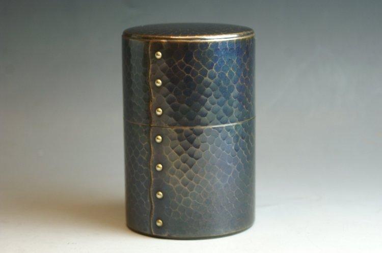 茶筒紫金色六半斤 茶器【工芸ギフト】