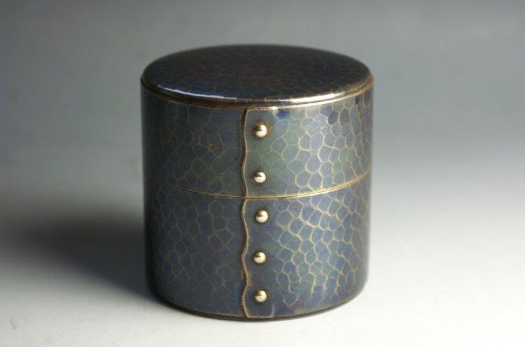 手作り銅器 茶筒 紫金色 八半斤 茶器【工芸ギフト】