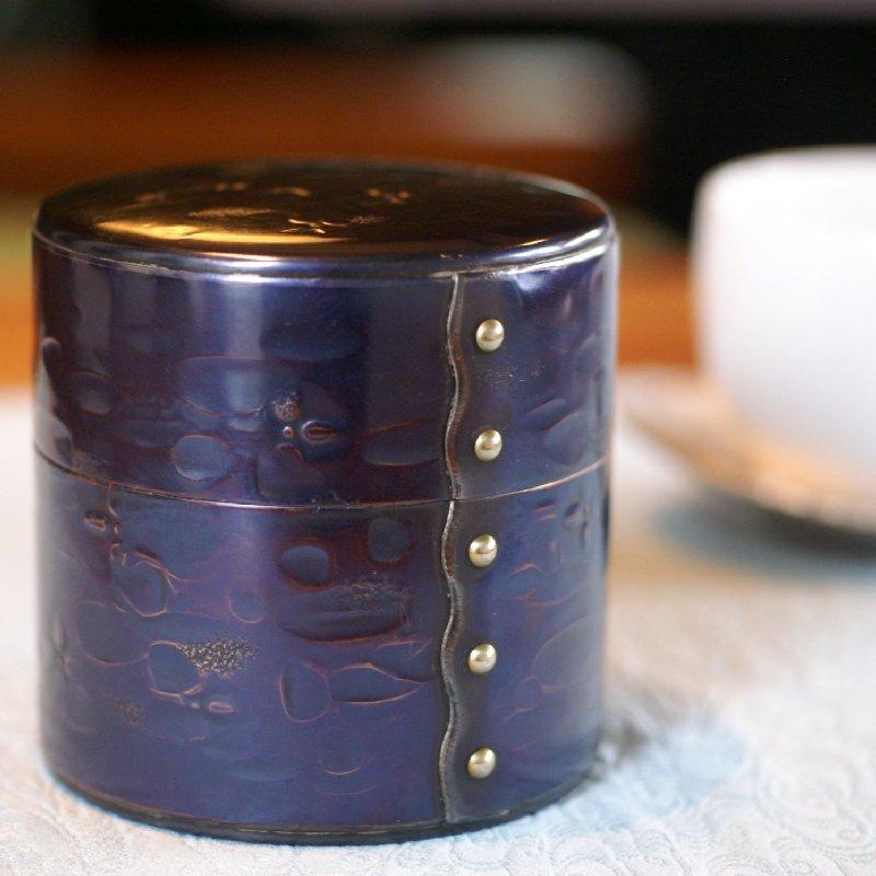 手づくり銅器 茶筒 紫銅色 八半 茶器【工芸ギフト】【引出物御祝記念品】