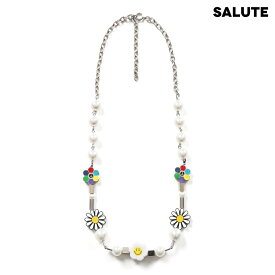 SALUTE サルーテ FLOWER ANARCHY SMILE NECKLACE - MULTI ネックレス マルチ