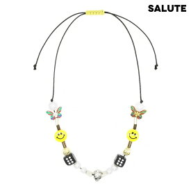 SALUTE サルーテ *EVAE+ SMILEY NECKLACE - YELLOW ネックレス イエロー
