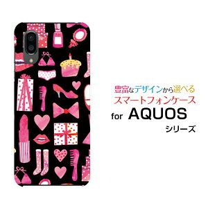 AQUOS sense3 plus サウンド [SHV46] auAQUOS sense3 plus SoftBankアクオス センススリー プラスオリジナル デザインスマホ カバー ケース ハード TPU ソフト ケースおしゃれアイテム(黒×ピンク)