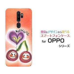 OPPO A5 2020オッポ エーファイブ 2020UQ mobileオリジナル デザインスマホ カバー ケース ハード TPU ソフト ケースさくらんぼ