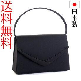 日本製ブラックフォーマルバッグ サテンライン 撥水 はっ水 冠婚葬祭 黒 F1 入学式 入園式 卒業式 卒園式
