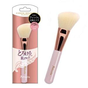 フェリセラSCチークブラシ(先斜) FEBSC1001 メイク 化粧 ブラシ フェイス 肌 チーク ハイライト シェーディング やさしい なめらか 透明感 携帯 便利 かわいい ピンク 女子 女性 オシャレ キレイ