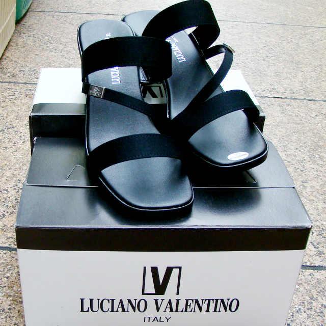【靴】婦人 レディース バレンチノ クイックサンダル LUCIANO VALENTINO ITALY 3Lサイズ 黒