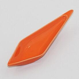 クリアオレンジ ダイヤ型アミューズスプーン