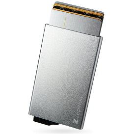 シルバー カードケース スキミング防止 磁気防止 アルミ スライド式 メンズ レディース スリム 薄型 クレジットカード ポイントカード カード入れ カードホルダー お札 磁気保護 小さい コンパクト 薄い Zepirion ブランド おしゃれ ウォレット 箱ポイント消化