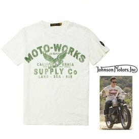 Johnson Motors 【 ジョンソン・モーターズ 】半袖T-Shirts『 Moto-Supply 』ジョンソン・Tシャツcolor【 DIRTY WHITE 】オフホワイト