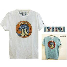 【 ジョンソン・モーターズ 】半袖 LOGO T-ShirtsSUNSET SURF・シリーズsstswh20115『 TEN TOES 』サーフアートcolor【 WHITE 】ホワイト