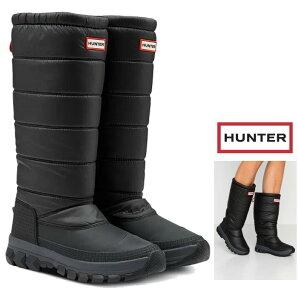 HUNTER BOOTS【ハンター】レディースオリジナル インシュレーテッド トール スノー ブーツ【 HUNTER WOMENS ORIGINAL INSULATED TALL SNOW BOOT 】ロング丈・スノーブーツ・長靴color : 【 BLACK 】ブラック