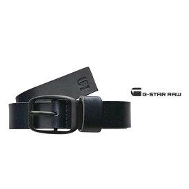 G-STAR RAW 【 ジースターロー 】MID BRYN BELTレザーベルト革 ヴィンテージ メタルcolor:【 BLACK/BLACK 】ブラック
