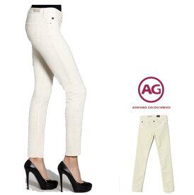 AG Lady's【アドリアーノゴールドシュミット】【 STILT 】SLIMスリムFIT・カラーコーデュロイパンツcolor:001【IVOLY】オフホワイト