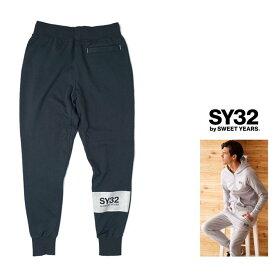 SY32 by SWEET YEARS【 スィートイヤーズ 】TNS1717『WORLD STAR SWEAT PANTS』ロゴ・スウェットパンツcolor:【 NAVY 】ネイビー