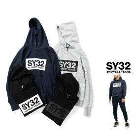 SY32 by SWEET YEARS【 スィートイヤーズ 】TNS1704-2 BOX LOGO P/O HOODIEフード BIGロゴ・プルオーバー・パーカーcolor:【 GREY 】グレーcolor:【 NAVY 】ネイビー