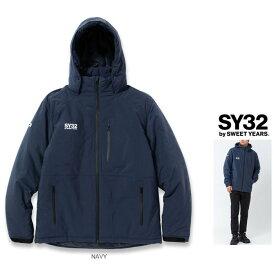 SY32 by SWEET YEARS【 スィートイヤーズ 】10803 【INSULATION EMBOSS HOODIE JACKET】フーデッド・エンボス・中綿ダウンジャケットcolor:【 NAVY 】ネイビー