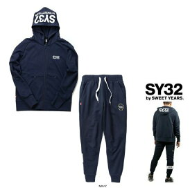 SY32 by SWEET YEARS【 スィートイヤーズ 】TNS1703-2・1717 NV REGULAR ZIP HOODIE&WORLD STAR SWEAT PANTSフード BIGロゴ・ZIPパーカー&スェット・スーツcolor:【 NAVY 】ネイビー