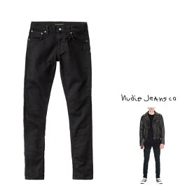 Nudie Jeans ヌーディー・ジーンズ 送料無料【 Tight Terry 】タイト・テリーレングス L30・ストレッチ・デニムPOWER STRETCH SELVAGEthreads all over Gunmetal trimscolor:787【 DEEP BLACK 】ディープ・ブラック