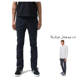 Nudie Jeans 【ヌーディー・ジーンズ】【 SLIM ADAM 】スリム・アダムスリム・チノパンツORGANIC COTTON WASHED TWILLZIP FLYcolor:818【 DARK MIDNIGHT 】ネイビー