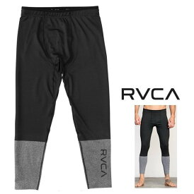 RVCA 【 ルーカ 】【 VA SPORT 】スパッツメンズ コンプレッションパンツ定番 ロゴ ラッシュガードcolor【 BLK 】ブラック